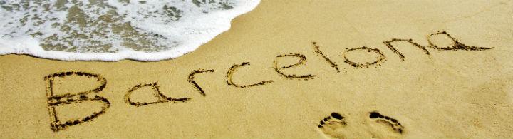 à la plage à Barcelone