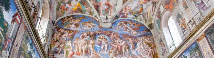 Michelangelo in der Sixtinische Kapelle