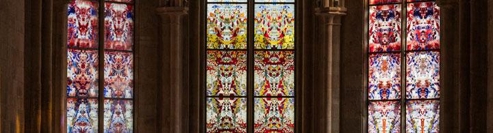 Neue Richter-Fenster in der uralten Abtei Tholey