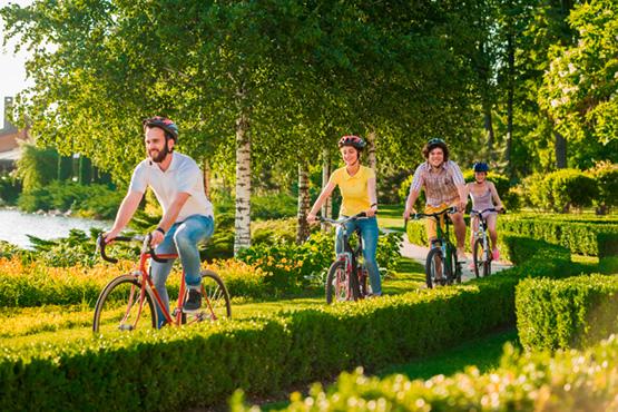 Tours à vélo à l'extérieur du parc
