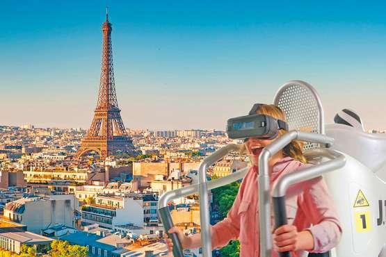 Survol virtuel de Paris