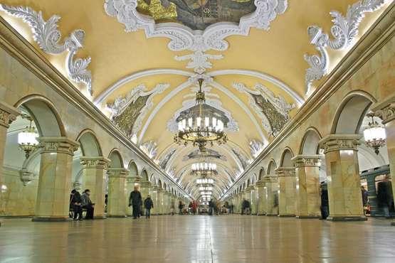 Tour durch die Moskauer Metro