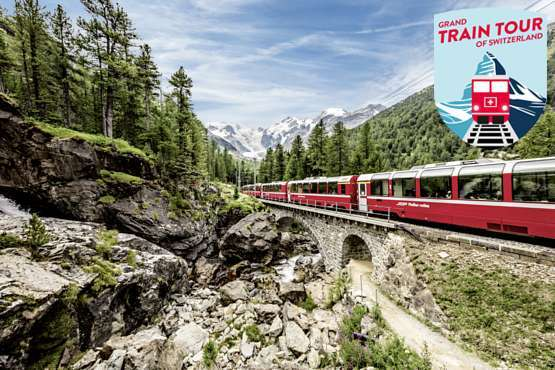 Grand Train Tour – Gletscher & Palmen