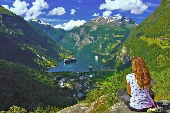 Trains des fjords et Hurtigruten