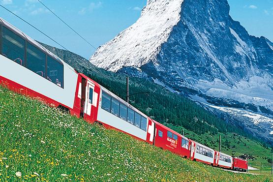 Den Klassiker der Schweizer Panoramazugfahrten, den Glacier Express, jetzt online buchen!