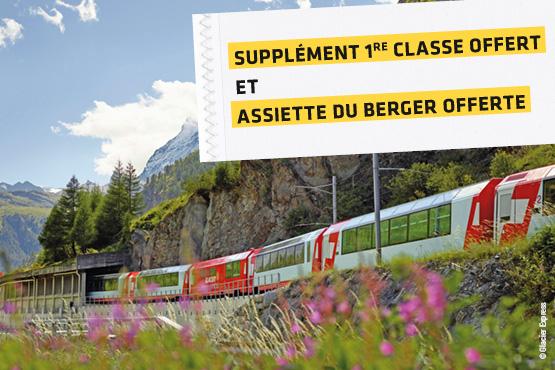 Inclinez votre siège, relaxez-vous et laissez-vous transporter par les splendides panoramas alpins!