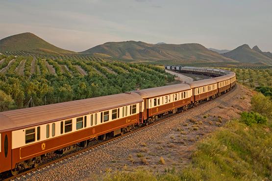 Embarquez pour un voyage d'exception en Andalousie à bord du train de luxe Al Andalus, véritable palace roulant de style Belle Époque.