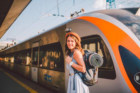 Bahnreisen sind umweltfreundlicher als Flugreisen